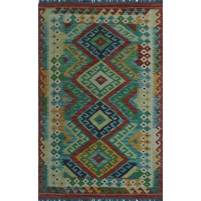 One-of-a-Kind Kratzerville Kilim Harrison Hand-Woven Wool Ivory Area Rug