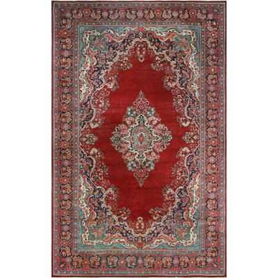 One-of-a-Kind Millner Distressed Mesi Hand-Knotted Wool Red Area Rug