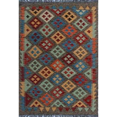 One-of-a-Kind Kratzerville Kilim Jake�Hand-Woven Wool Orange Area Rug