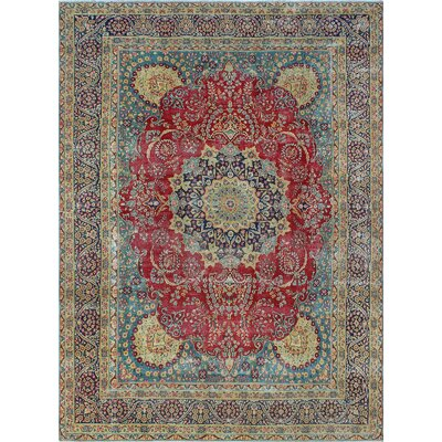One-of-a-Kind Millner Distressed Femi Hand-Knotted Wool Red Area Rug