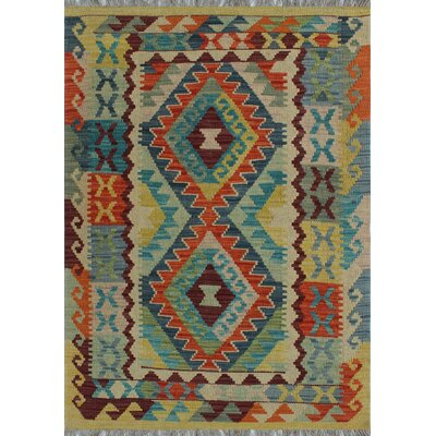 One-of-a-Kind Kratzerville Kilim Sebastian�Hand-Woven Wool Orange Area Rug