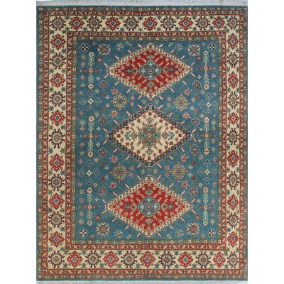One-of-a-Kind Wendland Russell Lt. Hand-Knotted Wool Blue Area Rug