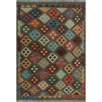 One-of-a-Kind Kratzerville Kilim Adam Hand-Woven Wool Brown Area Rug