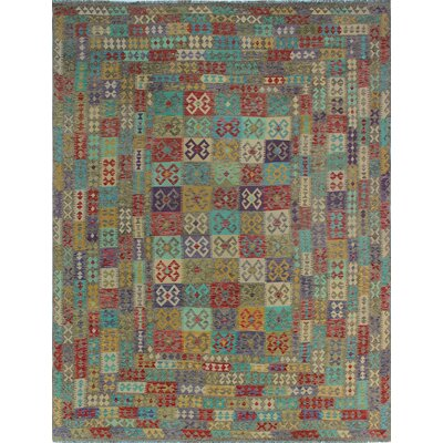 One-of-a-Kind Kratzerville Kilim Connor Hand-Woven Wool Red Area Rug