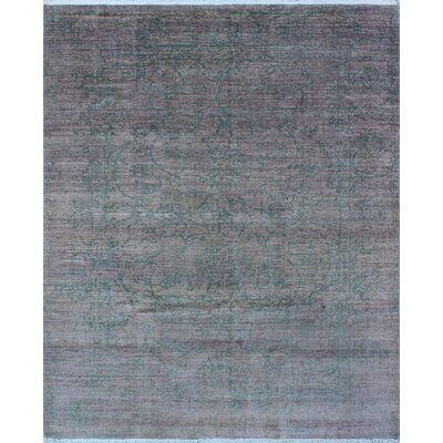 One-of-a-Kind Millman Sauda Hand-Knotted Charcoal Area Rug