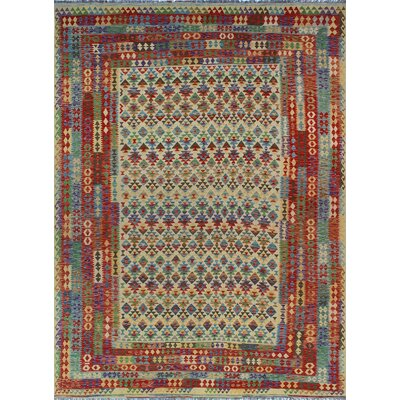 One-of-a-Kind Kratzerville Kilim Aaron�Hand-Woven Wool Ivory Area Rug
