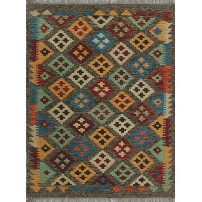 One-of-a-Kind Kratzerville Kilim Arthur Hand-Woven Wool Chocolate Area Rug