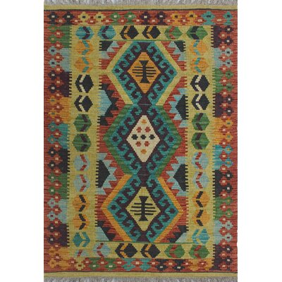 One-of-a-Kind Kratzerville Kilim Toby Hand-Woven Wool Ivory Area Rug