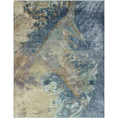 One-of-a-Kind Millman Fayola Hand-Knotted Blue Area Rug