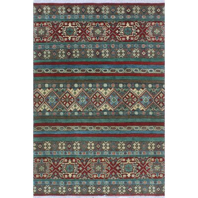 One-of-a-Kind Wendland Johnny Hand-Knotted Wool Red Area Rug