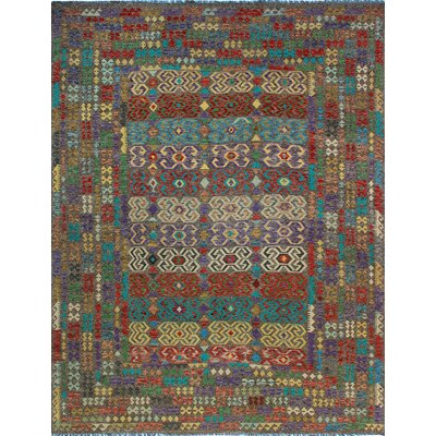 One-of-a-Kind Kratzerville Kilim Callum�Hand-Woven Wool Red Area Rug