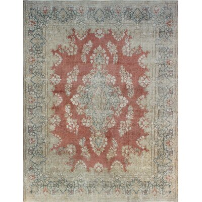 One-of-a-Kind Millner Distressed Valeria Hand-Knotted Wool Rust Area Rug