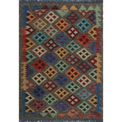 One-of-a-Kind Kratzerville Kilim Luke�Hand-Woven Wool Chocolate Area Rug