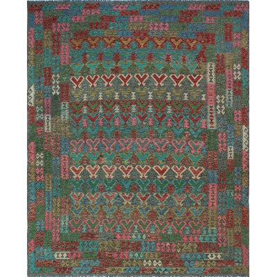 One-of-a-Kind Kratzerville Kilim Elliot�Hand-Woven Wool Brown Area Rug