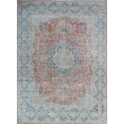 One-of-a-Kind Millner Distressed Markell Hand-Knotted Wool Rust Area Rug