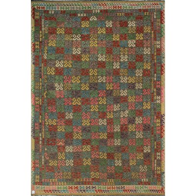 One-of-a-Kind Kratzerville Kilim Albert�Hand-Woven Wool Brown Area Rug