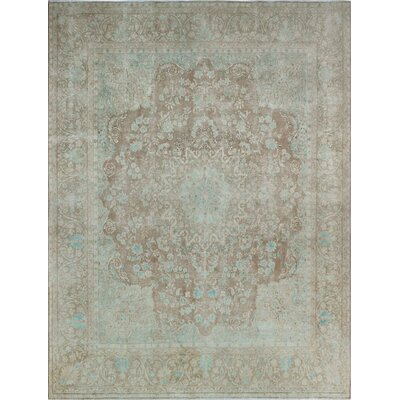 One-of-a-Kind Millner Distressed Aimee Hand-Knotted Wool Brown Area Rug