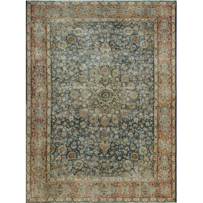 One-of-a-Kind Millner Distressed Nkosazana Hand-Knotted Wool Blue Area Rug