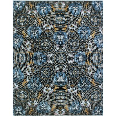 One-of-a-Kind Millman Kojo Hand-Knotted Black Area Rug