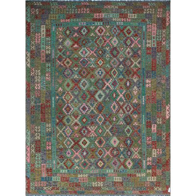 One-of-a-Kind Kratzerville Kilim Rory Hand-Woven Wool Red Area Rug