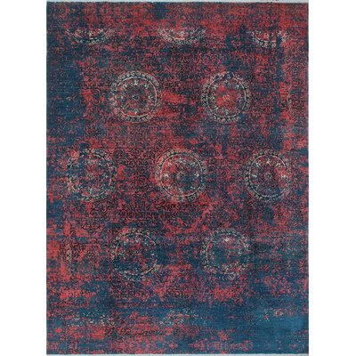 One-of-a-Kind Millman Erase Lori Hand-Knotted Blue Area Rug