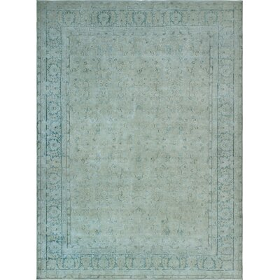 One-of-a-Kind Millner Distressed Becca Hand-Knotted Wool Beige Area Rug