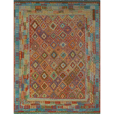 One-of-a-Kind Kratzerville Kilim Austin Hand-Woven Wool Red Area Rug