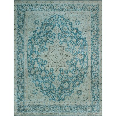 One-of-a-Kind Millner Distressed Chelsea Hand-Knotted Wool Blue Area Rug