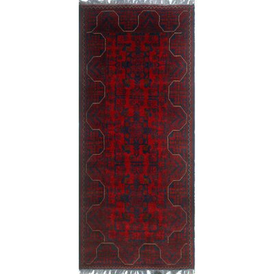 One-of-a-Kind Millar Panya Hand-Knotted Wool Red Area Rug