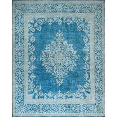 One-of-a-Kind Millner Distressed Gigi Hand-Knotted Wool Blue Area Rug