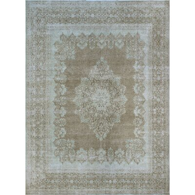 One-of-a-Kind Millner Distressed Mwamba Hand-Knotted Wool Beige Area Rug