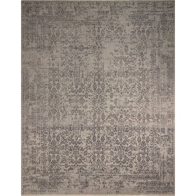 One-of-a-Kind Entwistle Lima Hand-Knotted Silver Area Rug