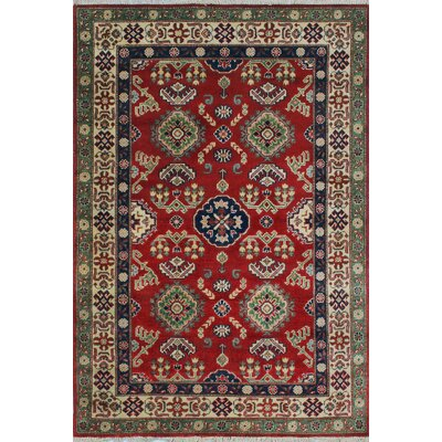 One-of-a-Kind Wendland Kwabena Hand-Knotted Wool Red Area Rug