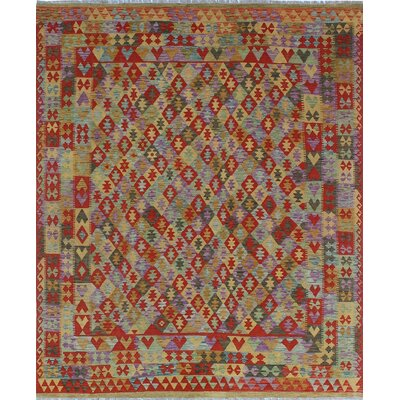 One-of-a-Kind Kratzerville Kilim Ellis�Hand-Woven Wool Red Area Rug