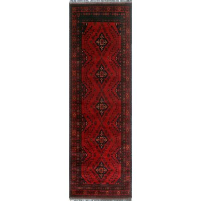 One-of-a-Kind Millar Thema Hand-Knotted Wool Red Area Rug