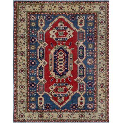 One-of-a-Kind Wendland Ayofemi Hand-Knotted Wool Red Area Rug