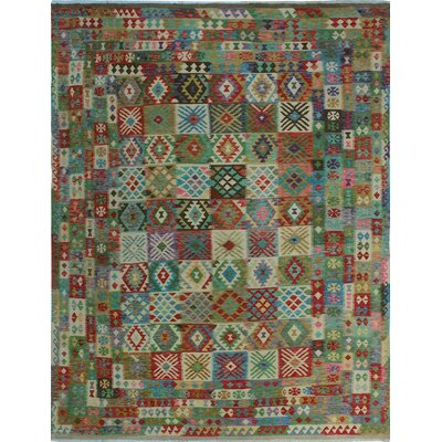 One-of-a-Kind Kratzerville Kilim Sonny�Hand-Woven Wool Red Area Rug