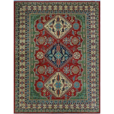 One-of-a-Kind Wendland Marjani Hand-Knotted Wool Red Area Rug