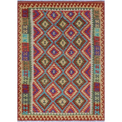 One-of-a-Kind Kratzerville Kilim Tommy�Hand-Woven Wool Red Area Rug