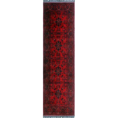 One-of-a-Kind Millar Abdalla Hand-Knotted Wool Red Area Rug