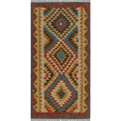 One-of-a-Kind Kratzerville Kilim Theodore�Hand-Woven Wool Red Area Rug