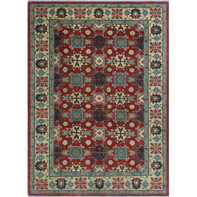 One-of-a-Kind Wendland Jabulani Hand-Knotted Wool Red Area Rug