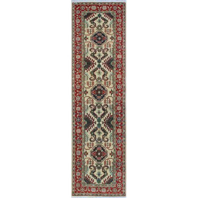 One-of-a-Kind Wendland Masamba Hand-Knotted Wool Ivory Area Rug