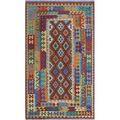 One-of-a-Kind Kratzerville Kilim Jenson�Hand-Woven Wool Red Area Rug