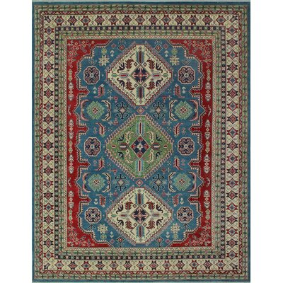 One-of-a-Kind Wendland Nancy Lt. Hand-Knotted Wool Blue Area Rug