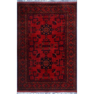 One-of-a-Kind Millar Adusa Hand-Knotted Wool Red Area Rug