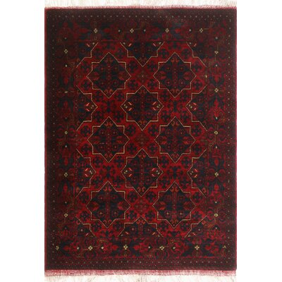 One-of-a-Kind Millar Omusupe Hand-Knotted Wool Red Area Rug