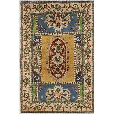 One-of-a-Kind Wendland Eugene Hand-Knotted Wool Gold Area Rug