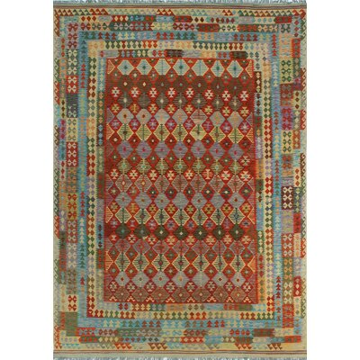 One-of-a-Kind Kratzerville Kilim Robert Hand-Woven Wool Rust Area Rug