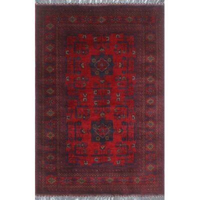 One-of-a-Kind Millar Bolanile Hand-Knotted Wool Red Area Rug